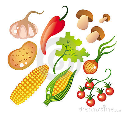 Free Set Of Vegetables Stock Photography - 4262052