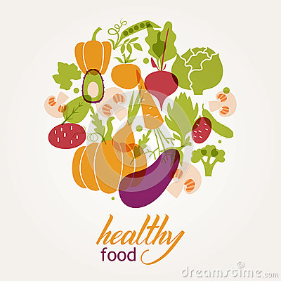 Free Set Of Vegetables. Healthy Food Table. Stock Image - 44126801