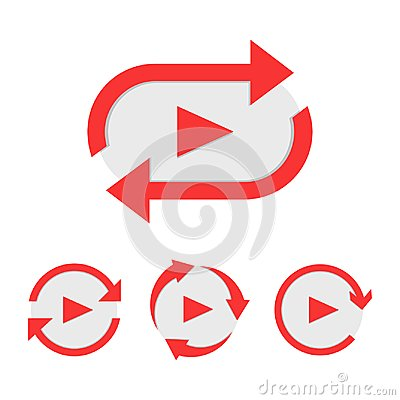 Free Set Of Video Play Button Like Simple Replay Icon Royalty Free Stock Images - 111723029