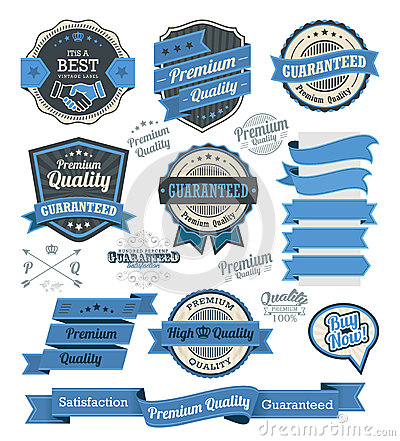 Free Set Of Vintage Badges And Design Elements Royalty Free Stock Photo - 44658225