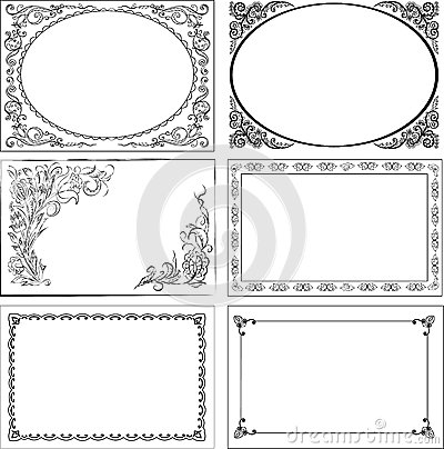Free Set Of Vintage Borders. Royalty Free Stock Image - 44885706