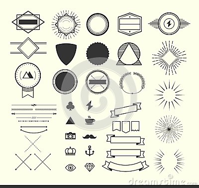 Free Set Of Vintage Elements For Making Logos, Badges And Labels Royalty Free Stock Photo - 49637835