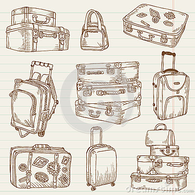 Free Set Of Vintage Suitcases Stock Images - 27281584
