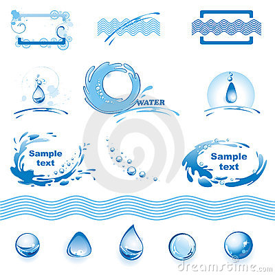 Free Set Of Water Design Elements Royalty Free Stock Image - 9302516