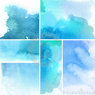Free Set Of Watercolor Abstract Backgrounds Stock Photo - 15317980