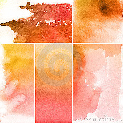 Free Set Of Watercolor Abstract Backgrounds Stock Photo - 15901610