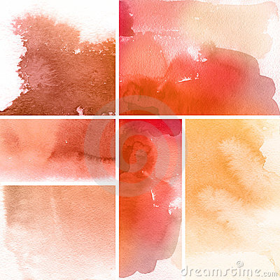 Free Set Of Watercolor Backgrounds Royalty Free Stock Photography - 20499227