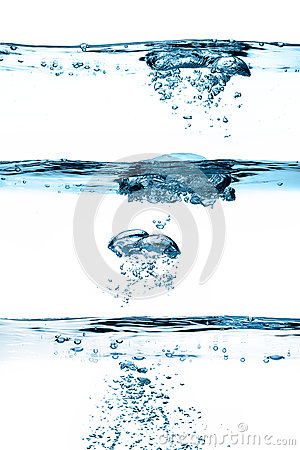 Free Set Of Waterlines. Oxygen Bubbles. Healthy Fresh Water Royalty Free Stock Photo - 37469835
