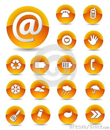 Free Set Of Web Icons Royalty Free Stock Photo - 4770105