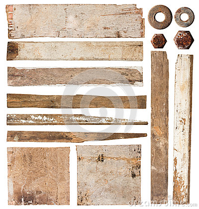 Free Set Of Wood Plank Royalty Free Stock Photos - 25235108
