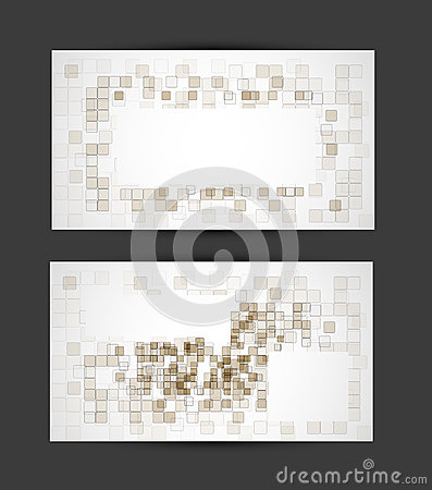 Set Oif Business Abstract Cube Card Royalty Free Stock Photos - Image: 26467238