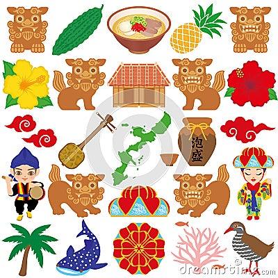 Okinawa illustrations.