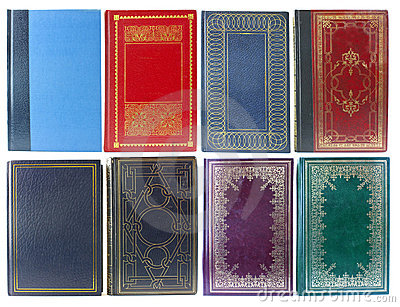 Set of old book covers