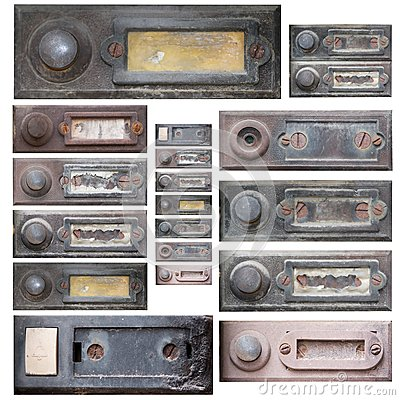 Set of the old doorbells