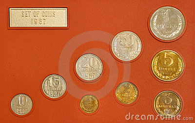 Set of old Russian coins