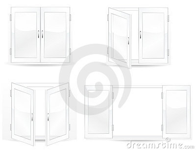 Set of open and close windows