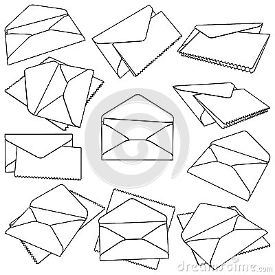 Set Of Open Envelopes Royalty Free Stock Photo - Image: 25380665