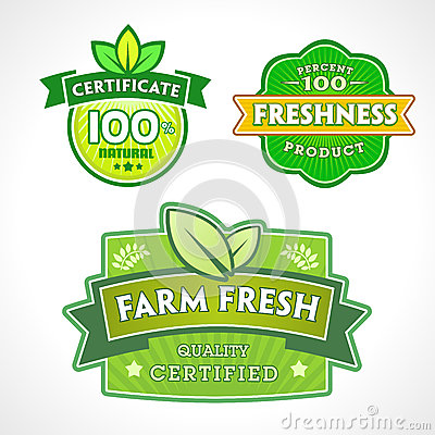 Set of organic-bio-natural  labels