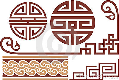 Set of Oriental Design Elements