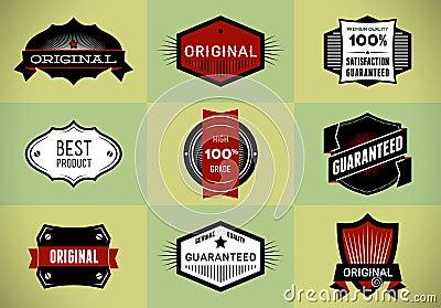 Set of Original and Premium labels