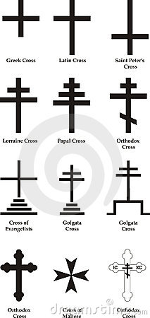 Set ov vector Christian crosses