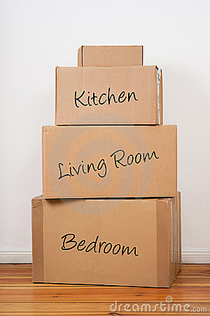 Set of Packages for Moving Day