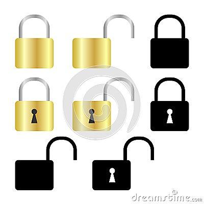 Set of padlock