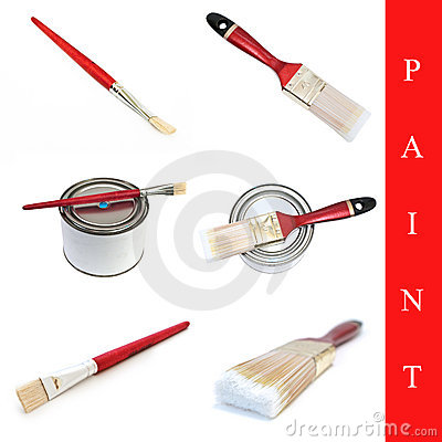 Set of paint brushes