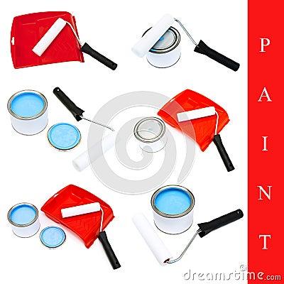 Set of paint tools