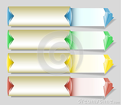 Banner Infographics Template With Blank Notepads Stock Vector ...