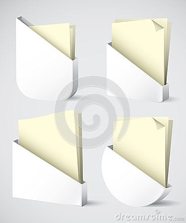Set of paper holders