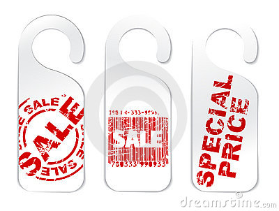 Set of paper tags for sale