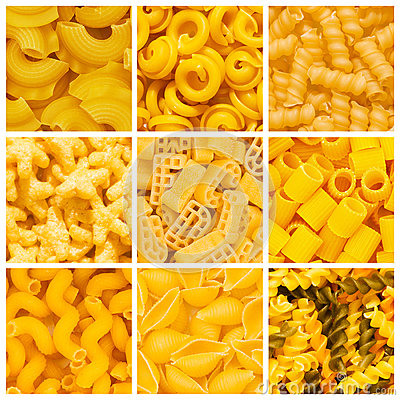 Set of  pasta backgrounds