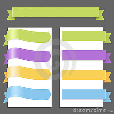 Set Pastel Ribbons