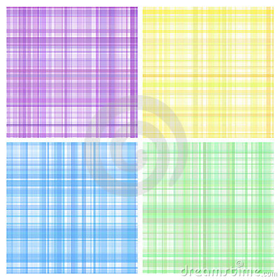 Set of pastel stripes plaid