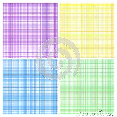 Set of pastel stripes plaid