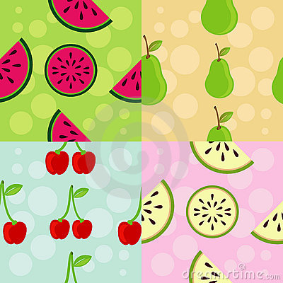Set of Patterns: Fruit Theme