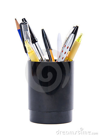 Set of pens with stand