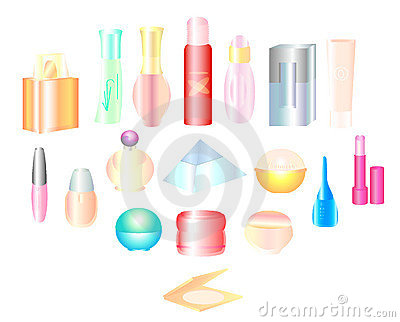 Set of perfumery