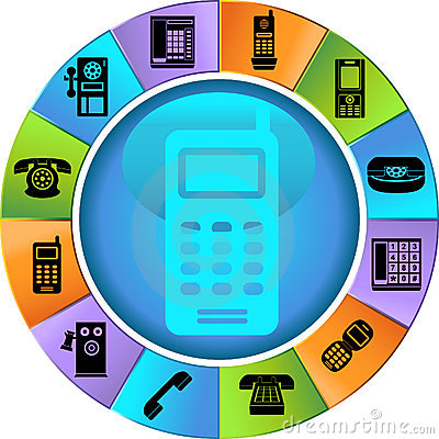 Set of Phone Buttons - wheel