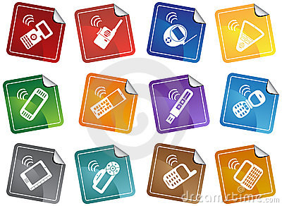 Set of Phone Icons - Stickers