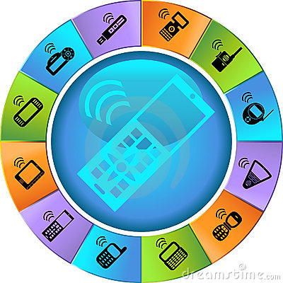 Set of Phone Icons - Wheel