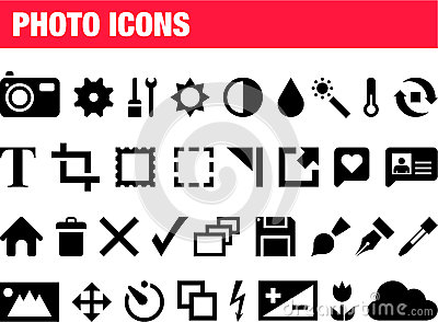 Set of photo icons