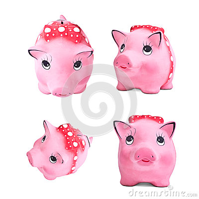 Set of piggy moneybox