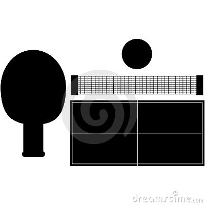 Set of Ping Pong Silhouettes