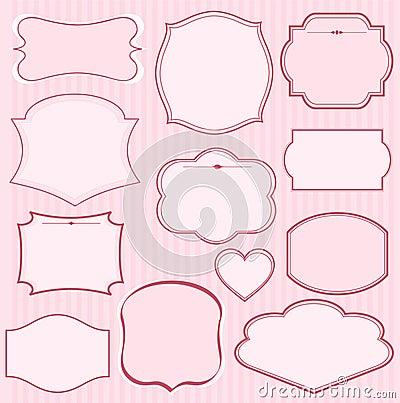 Set of pink  frames