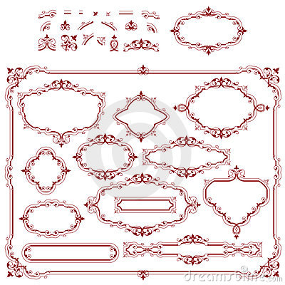 Set of plant element and frames