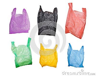 Set of plastic bags