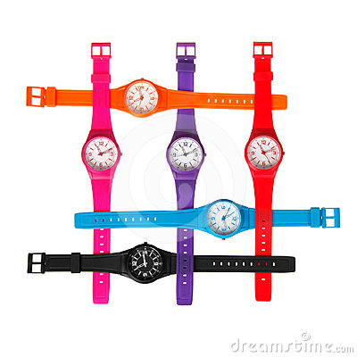Set of plastic wrist watches