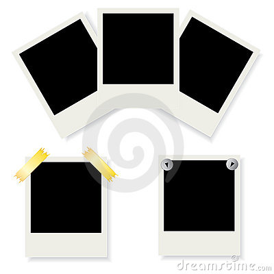 Set of Polaroid photo frames